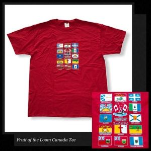 FRUIT OF THE LOOM Red Canada Tee